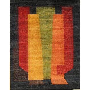 Price Check Gabbeh Tribal Art Lamb's Wool Black Area Rug By Pasargad