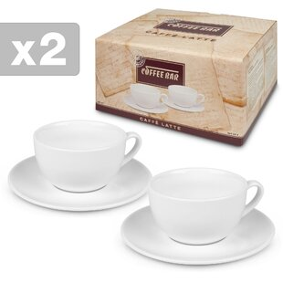 Alessandro Cafe Latte Espresso Cup and Saucer (Set of 2)