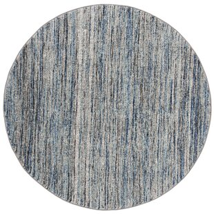 Woodcreek Blue/Gray Area Rug by Highland Dunes