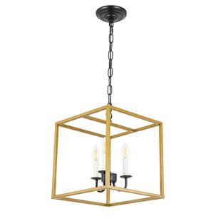 Tarbox 3-Light Square Pendant by Gracie Oaks