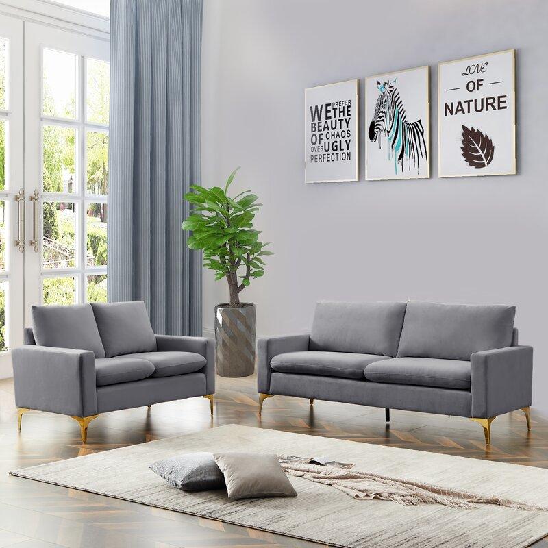 Mercer41 Bosi Standard Configurable Living Room Set