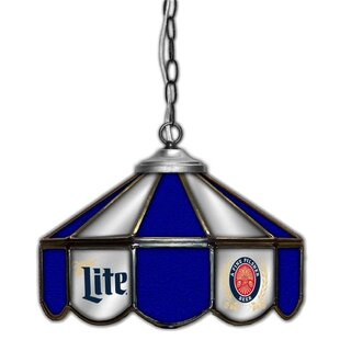 ALL AMERICAN LAMPS Miller Lite 1-Light Pool Table Lights Pendant