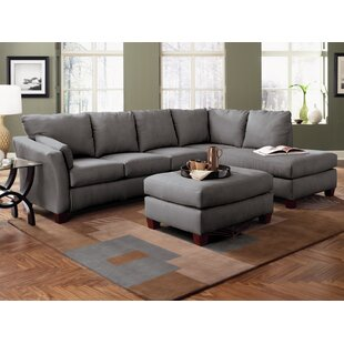 Klaussner Furniture Higgins Sectional with Ottoman