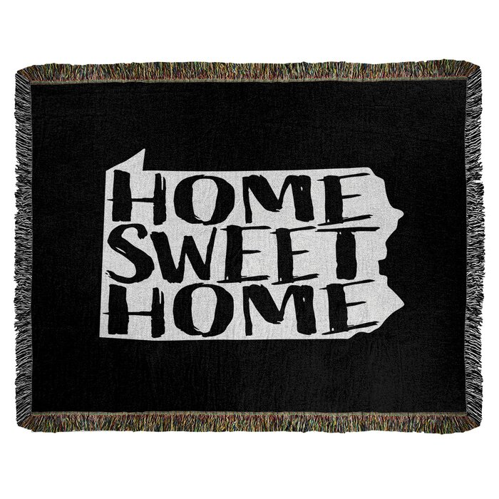 East Urban Home Home Sweet Pennsylvania Woven Cotton Throw Wayfair