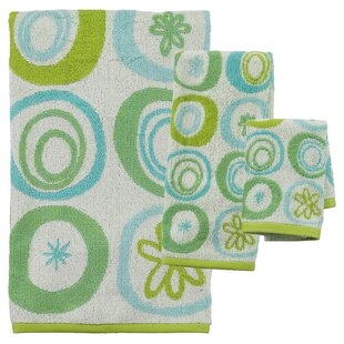 Hepner 3 Piece Jacquard 100% Cotton Towel Set