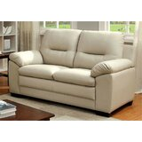 Gaenside Faux Leather 60.63 Wide Pillow Top Arm Loveseat by Red Barrel Studio®