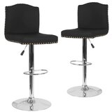 Wauseon Swivel Adjustable Height Bar Stool (Set of 2) by Winston Porter