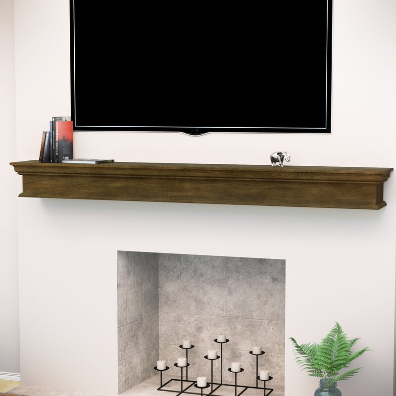 Arcola Floating Mantel Fireplace Shelf
