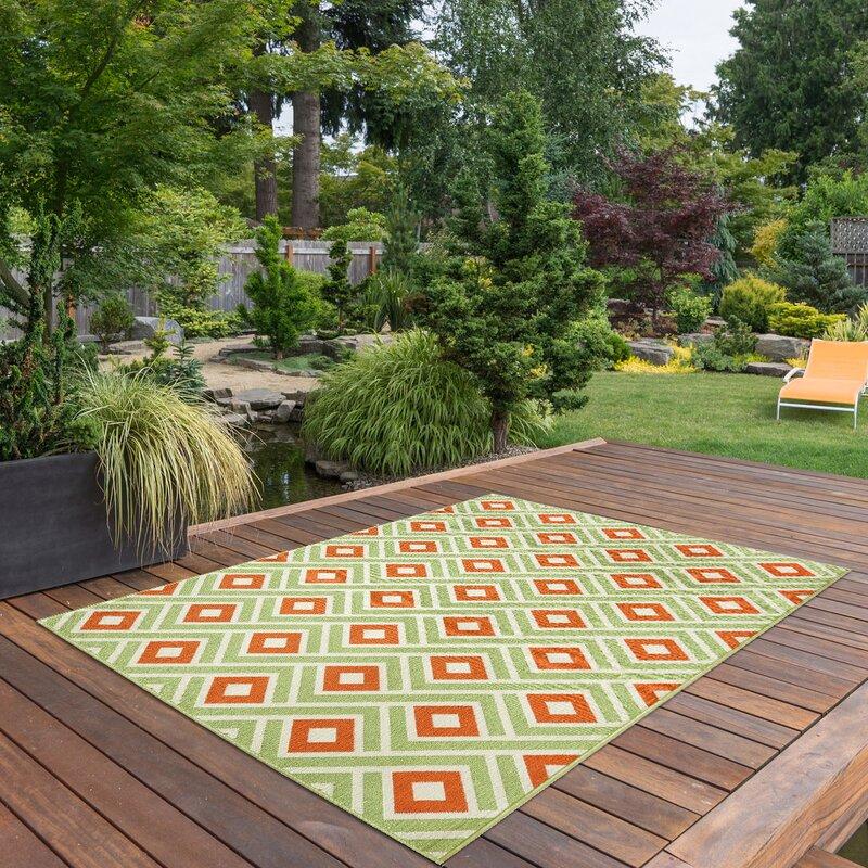 floorita innen au enteppich vitaminic in gr n orange. Black Bedroom Furniture Sets. Home Design Ideas