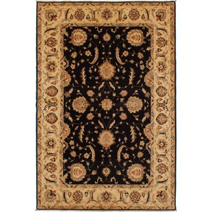 Reviews One-of-a-Kind Eirwen Hand-Knotted Wool Black Area Rug By Isabelline