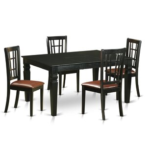 Septimus 5 Piece Extendable Dining Set August Grove