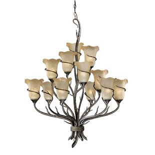 Loon Peak Polzin 12-Light Shaded Chandelier