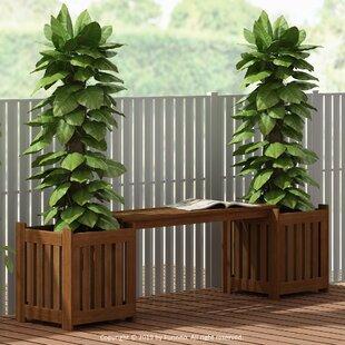 Daquan Tioman Wooden Planter Bench By Blue Elephant