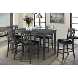 Colne 7 Piece Counter Height Solid Wood Dining Set by Darby Home Co