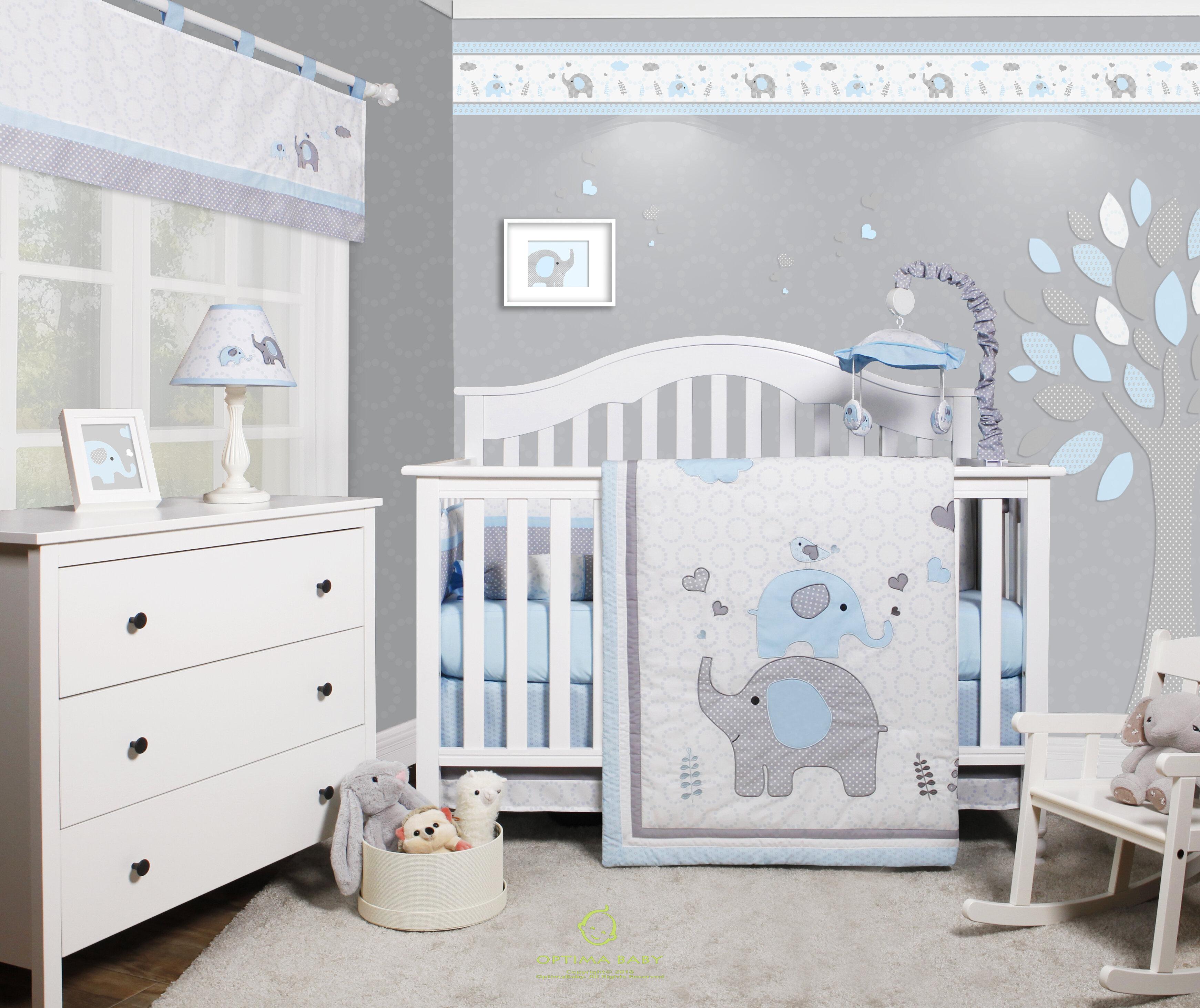 Harriet Bee Penney Elephant Baby Nursery 6 Piece Crib Bedding Set u0026 Reviews  | Wayfair