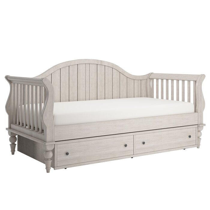 Three Posts Fort Collins Twin Daybed With Trundle And Toybox Divider