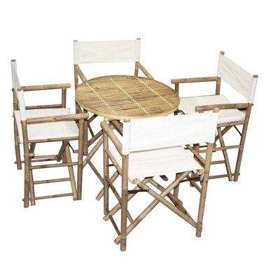 5 Piece Dining Set Bamboo54 Color: Natural