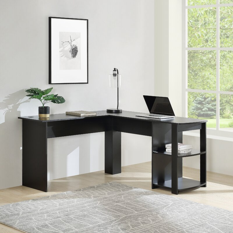 Latitude Run® Home Office L-Shaped Corner Computer Desk/ Study