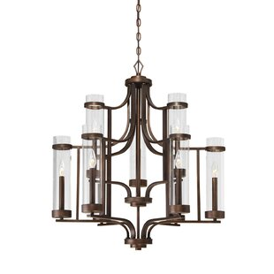 Breakwater Bay Iris 9-Light Shaded Chandelier
