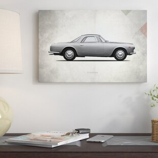 'Vintage Italia Series: 1962 Lancia Flaminia GT' Vintage Advertisement on Canvas By East Urban Home