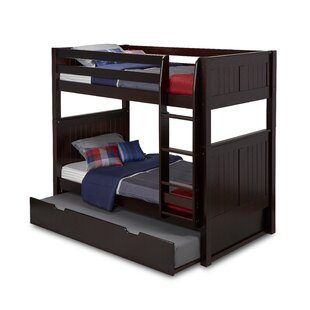 Price Check Oakwood Twin over Twin Bunk Bed with Trundle by Harriet Bee Reviews (2019) & Buyer's Guide