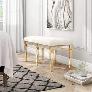 Journee Upholstered Bench