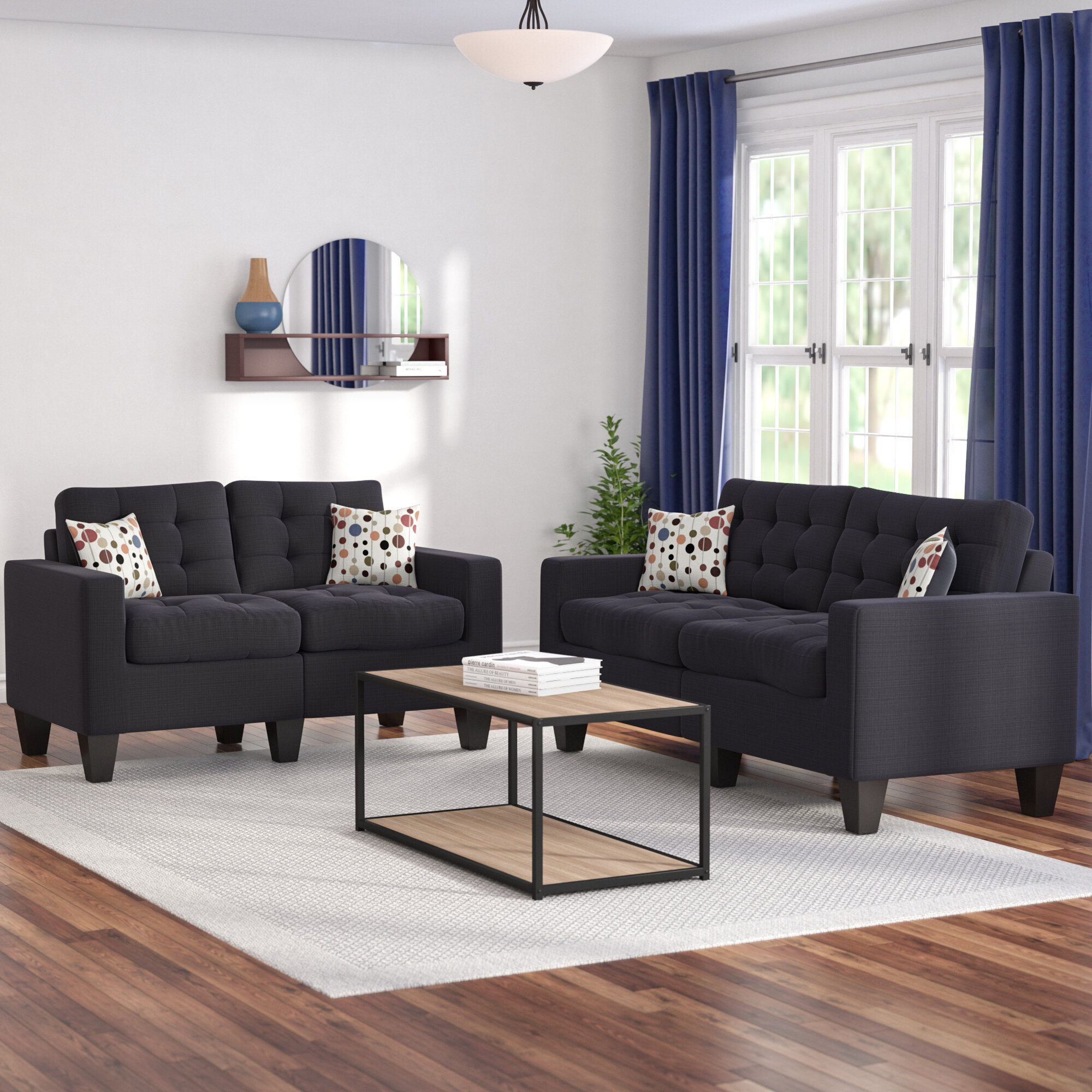 Zipcode design amia 2 piece living room set reviews wayfair