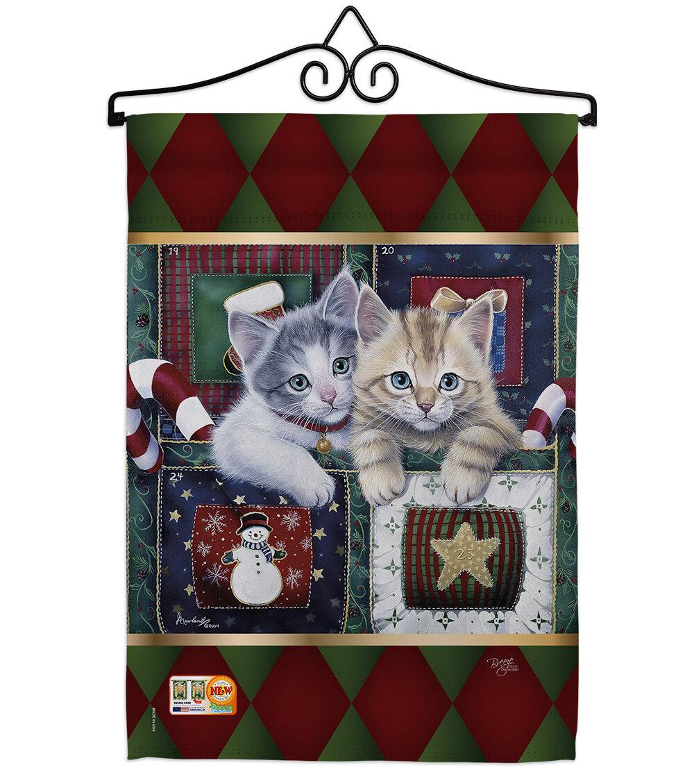 Breeze Decor Christmas Calendar Kittens Impressions Decorative 2 Sided Polyester 19 X 13 In Flag Set Wayfair