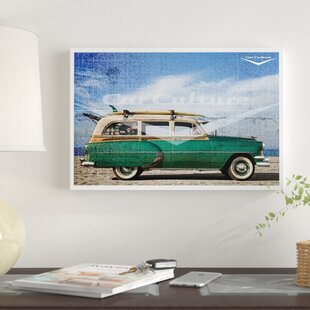 'Boss - Beach Boys' 1950's Chevrolet DeLuxe Woodie Surfer Wagon' Graphic Art Print on Canvas By East Urban Home