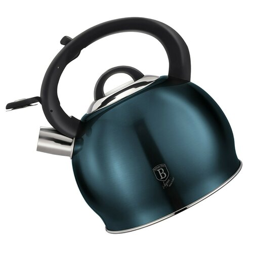 3L Stainless Steel Whistling Stovetop Kettle Berlinger Haus Colour: Blue