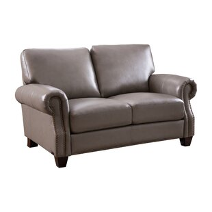 Dufault Leather Loveseat
