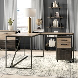 Edgerton 4 Piece L-Shaped Desk Office Suite by Greyleigh Find