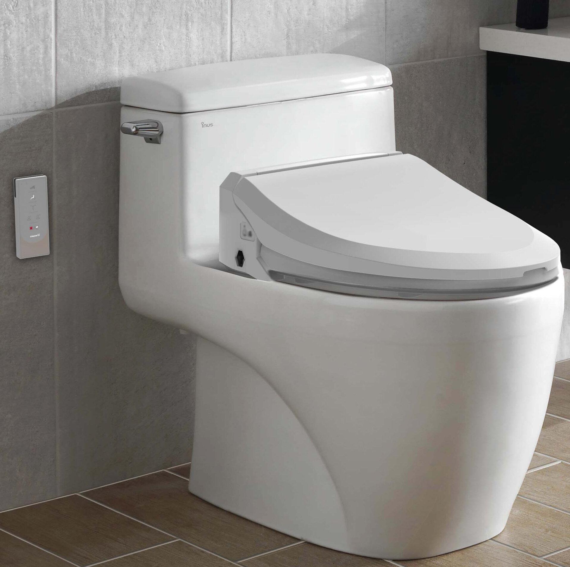 Round Bio Bidet Slim Three Electric Self-Cleaning Bidet Warm Toilet Seat