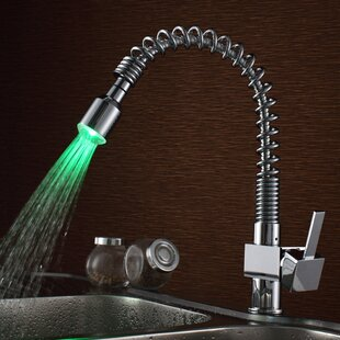 Sumerain International Group Pull Down Single Handle Kitchen Faucet with LED Light