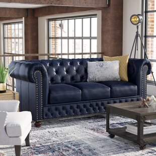 Trent Austin Design Forsyth Leather Chesterfield Sofa