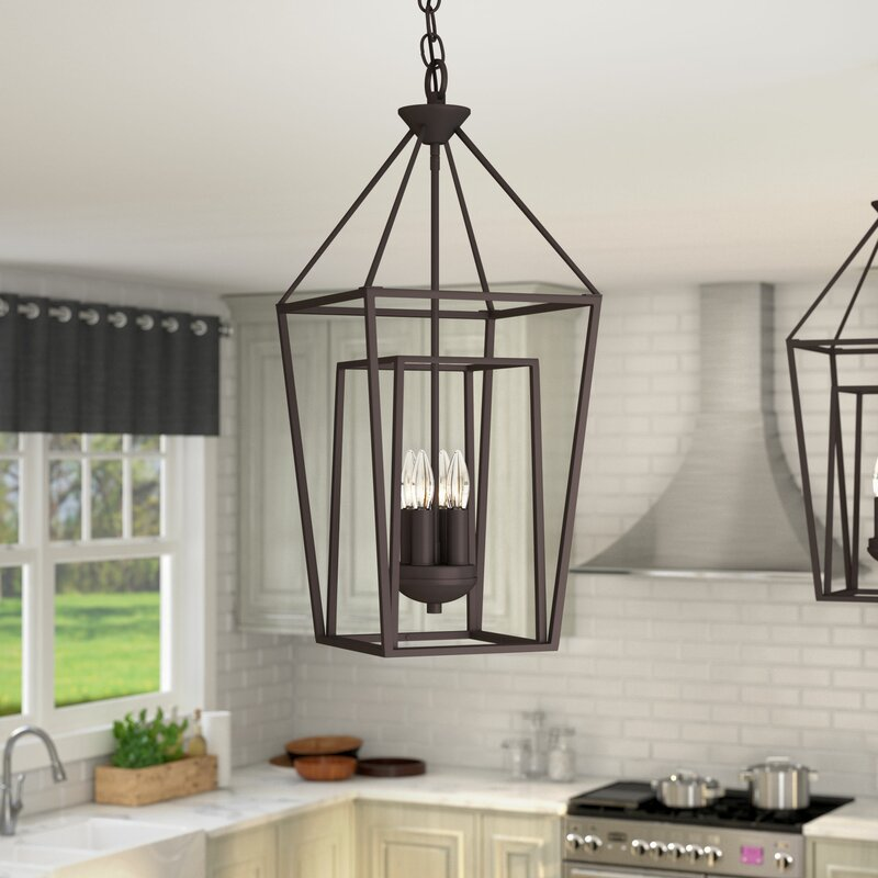 Laurel foundry modern farmhouse roodhouse 4 light foyer pendant roodhouse 4 light foyer pendant aloadofball Image collections