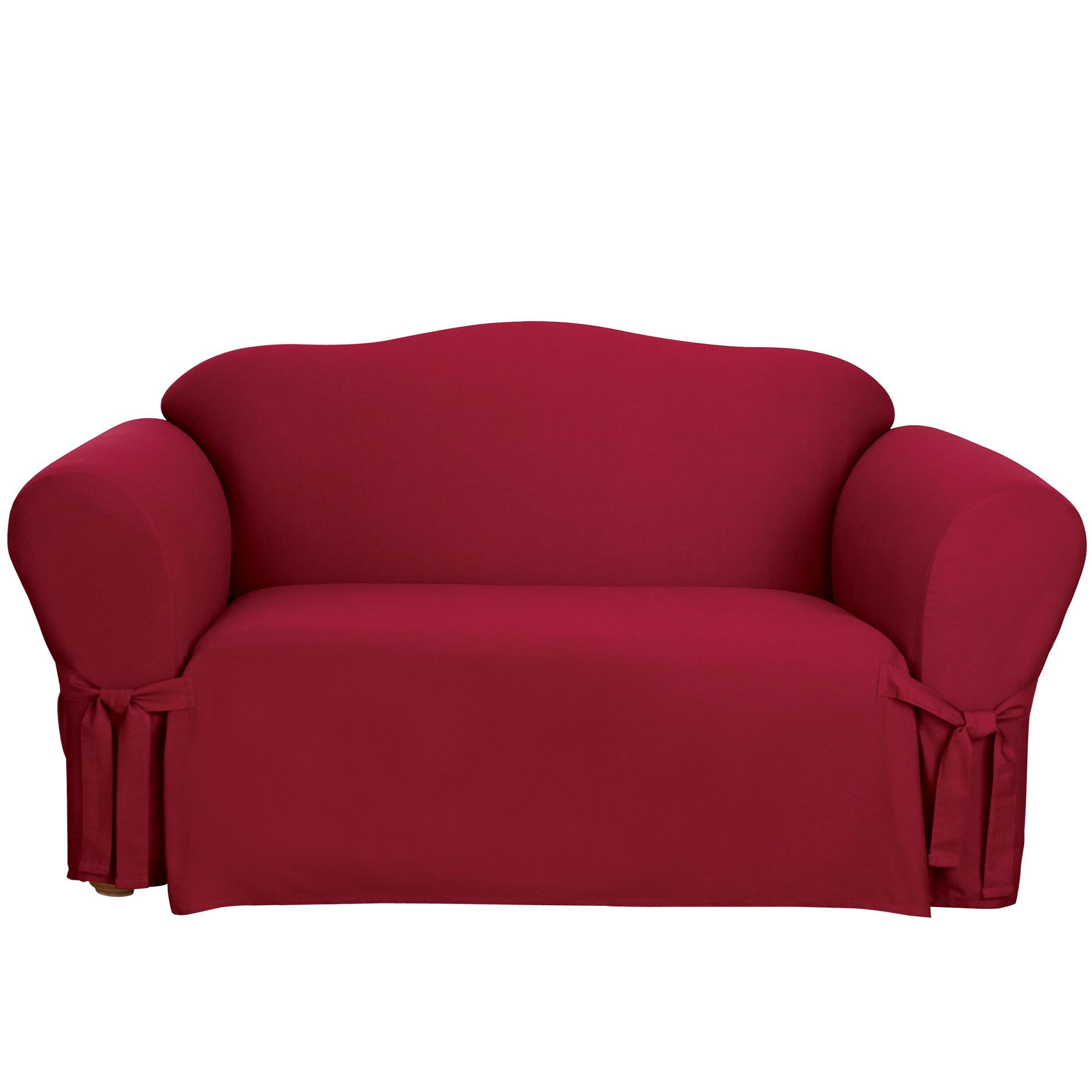 Sure Fit Cotton Duck Box Cushion Sofa Slipcover Amp Reviews