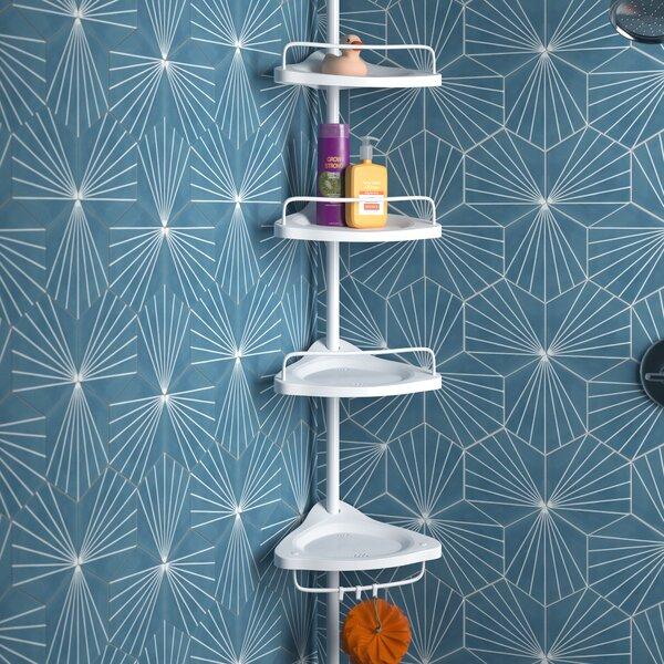 Wayfair Basics Studdard 4 Tier Adjustable Shower Corner 35 X 305 Cm Bathroom Shelf Reviews Wayfair Co Uk