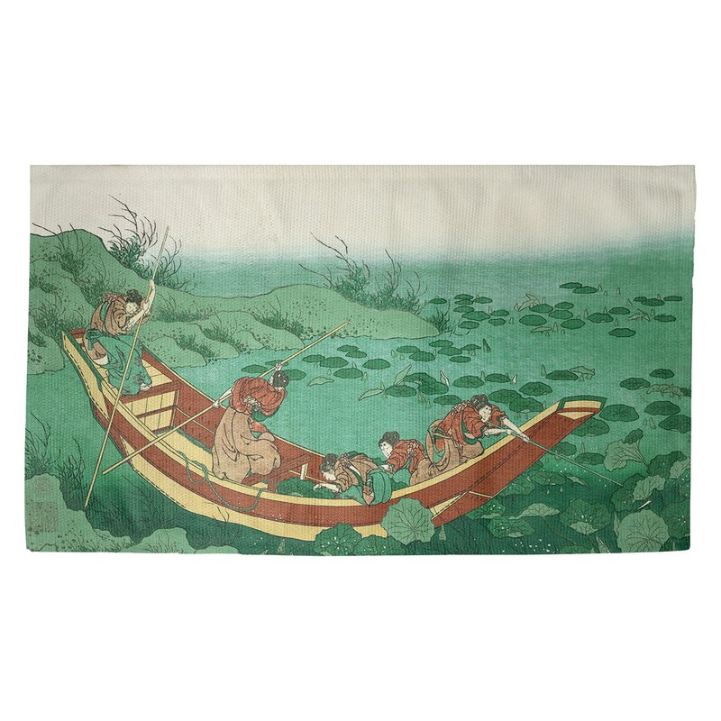 World Menagerieboat Among The Lily Pads Green Area Rug Wayfair