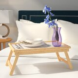 Mila Breakfast Tray with Flip Top and Foldable Legs by Andover Mills™