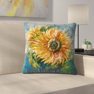 Olena Art Sunflower Throw Pillow