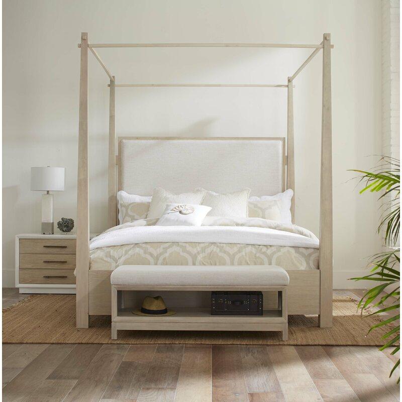 Boca Grande King Upholstered Canopy Bed