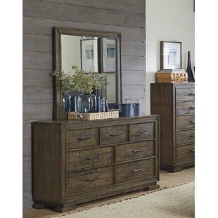 Charlton Home Shorehamby 7 Drawer Dresser with Mirror