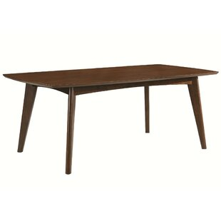 Dyal Mid-century Modern Wooden Dining Table George Oliver