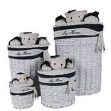 Bear Oval 4 Piece Wicker/Rattan Basket Set by Harriet Bee