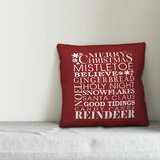 Dark Red Throw Pillows | Wayfair