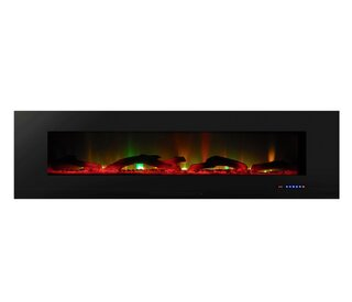 Alvina Recessed Wall Mounted Electric Fireplace by Orren Ellis SKU:CE786032 Check Price