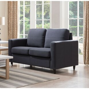 Holland Wooden Loveseat by Wrought Studio