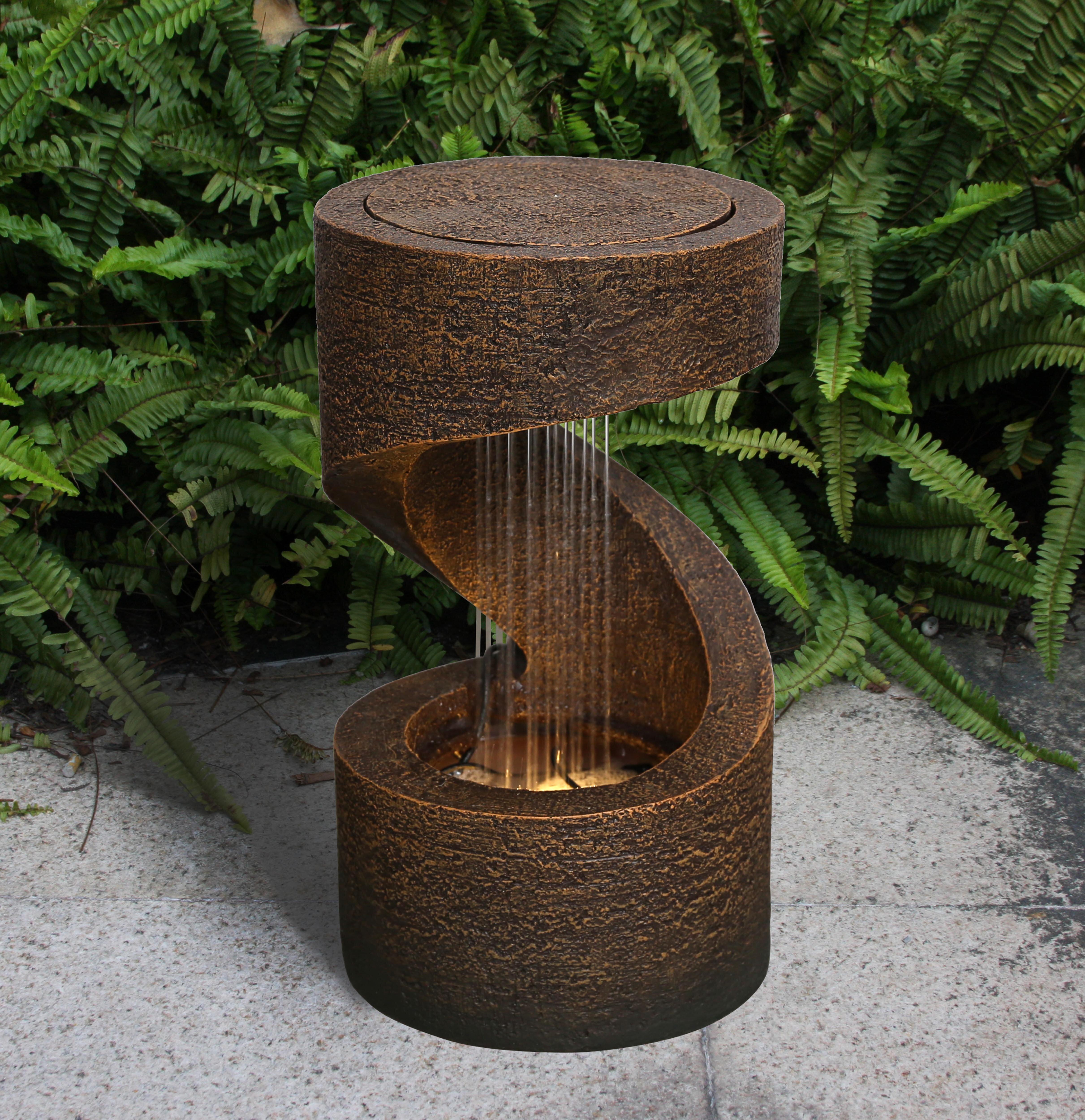 Hi Line Gift Ltd Resin Fountain With Light Reviews Wayfair