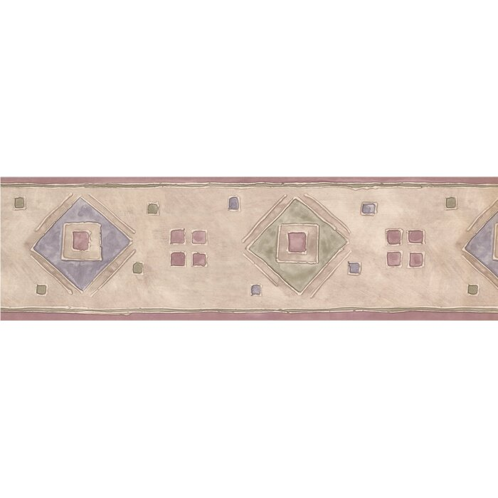 Geometric Design 15 L X 6 W Abstract Wallpaper Border
